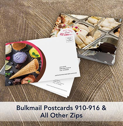 Bulk Postcards 910-916 & All Other Zips
