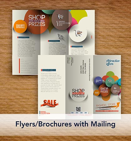 Flyers/Brochures with Mailing